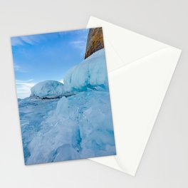 Ice and rock of Baikal Stationery Cards