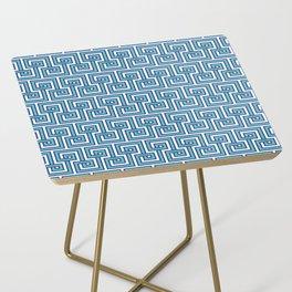 Greek Key - Turquoise Side Table