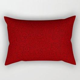 F E A R  H E R Red Rectangular Pillow