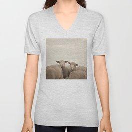 Smiling Sheep  Unisex V-Neck