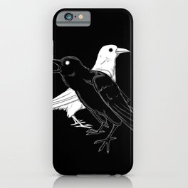 Twa Corbies iPhone Case