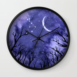 Starry Night and Moon #3 Wall Clock