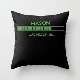 Mason Loading Throw Pillow
