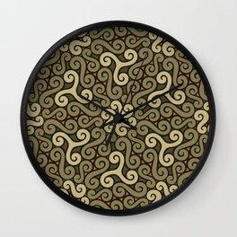 tendrils pattern Wall Clock