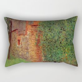 "Gustav Klimt ""Farmhouse in Kammer am Attersee"" Rectangular Pillow"