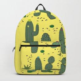 Yellow Cactus  Backpack