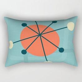 Mid century atomic design Rectangular Pillow