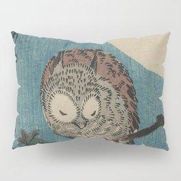 Vintage Japanese Owl Pillow Sham