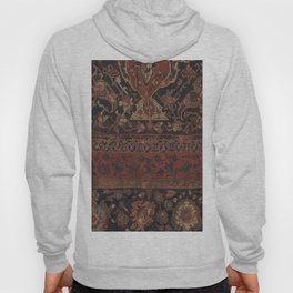 Boho Chic Dark III // 17th Century Colorful Medallion Red Blue Green Brown Ornate Accent Rug Pattern Hoody