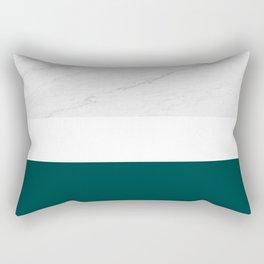 Marble And Teal Rectangular Pillow