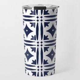 Mosaic Tile Pattern Travel Mug