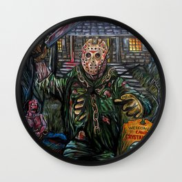 Friday the 13th Jason Voorhees Wall Clock