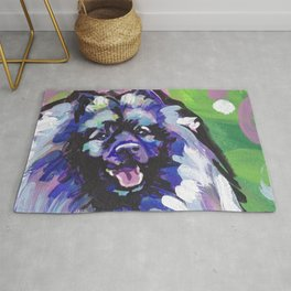 fun KEESHOND bright colorful Pop Art painting by Lea Rug