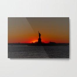 Sun Sets on Liberty Metal Print