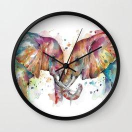 Sunset Elephants Wall Clock