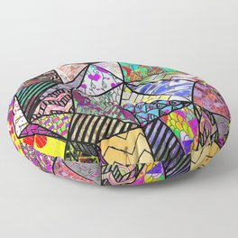 Triangler shaped mix up  Floor Pillow