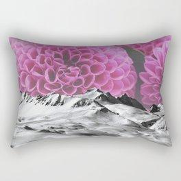 Ice Capped Dahlias Rectangular Pillow