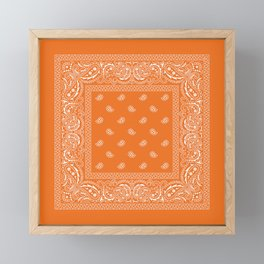 "Bandana - ""Burnt Sun"" - Paisley = Western  Framed Mini Art Print"