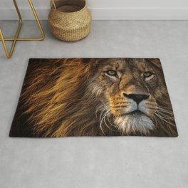 Fierce Proud Lion Predator Rug