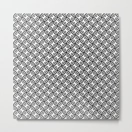 Circular Offset Rings Illusion Pattern Metal Print