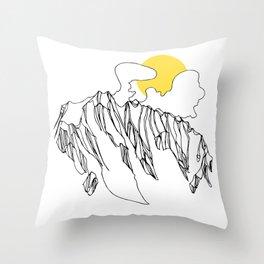 Golden Rocky Ridge Throw Pillow