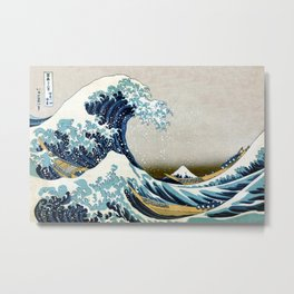 The great wave, famous Japanese artwork Metal Print