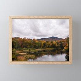 Fall Mountains Framed Mini Art Print