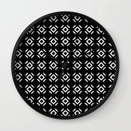 Symmetric patterns 147 black and white Wall Clock
