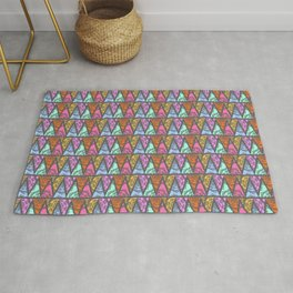 Lace Triangles in Grey Rug