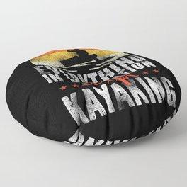 Retro Kayaking Everything In Moderation Except Kayaking Floor Pillow