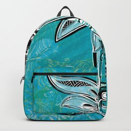 Trbal Floral Theads Backpack