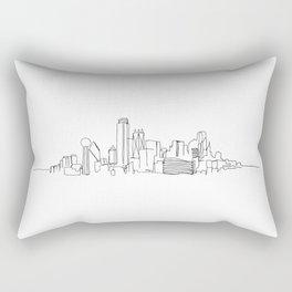 Dallas Skyline Drawing Rectangular Pillow