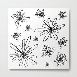 Energy Flowers Metal Print