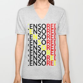 Censored Unisex V-Neck