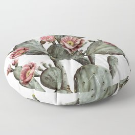 Prickly Pear Cactus Painting Floor Pillow