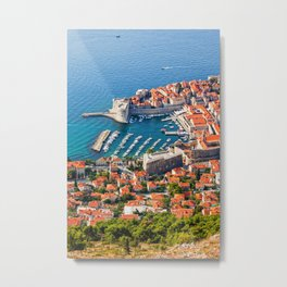 Old City Of Dubrovnik Aerial View Metal Print