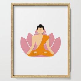 Buddhism mandala buddha yoga meditation zen namaste Serving Tray