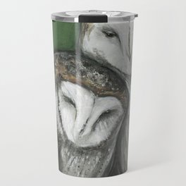 Soul Mates // Barn Owls Owl Bird Feather Wing Nature Love Animal Wild Nest Couple Marriage Family Travel Mug