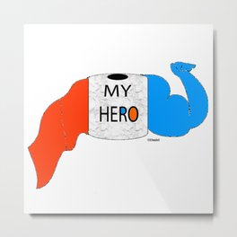 """"""" TP Hero """" Metal Print"""