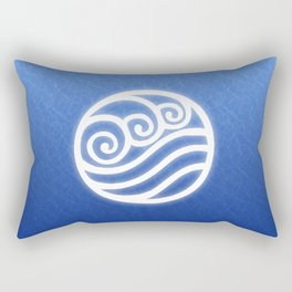 Avatar Water Bending Element Symbol Rectangular Pillow