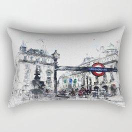 Piccadilly Circus London Rectangular Pillow