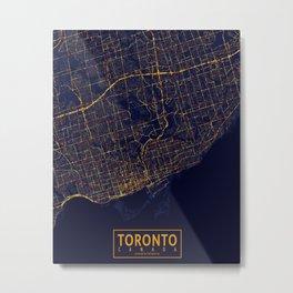 Toronto, Canada - City At Night Metal Print