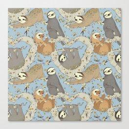 Sloths and Vanilla Canvas Print