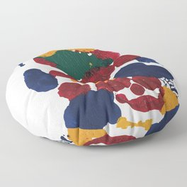Man Ray Natural Painting Floor Pillow