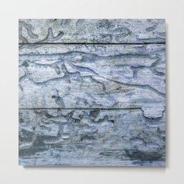 Bark beetle race track - blue Metal Print