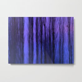 Abstract Winter Trees - Atmospheric Landscape Metal Print