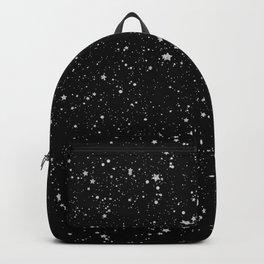 Glitter Stars2 - Silver Black Backpack