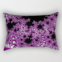 Asexual Pride Layered Fractal Petals Rectangular Pillow