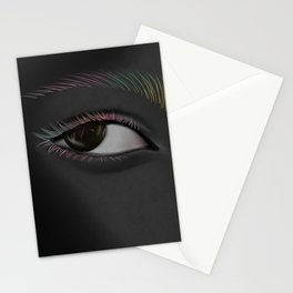 The black colored eye Stationery Cards