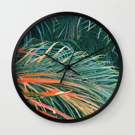 Enticing And Alluring Exotic Tropical Palm Leaves Wall Clock
